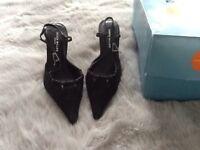 Brand new Karen Millen Kitten Heel Slingback shoes