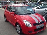 2007/57 SUZUKI SWIFT 1.3 GL 5DOOR IN RED, SPORTY LOOKS AND LOW RUNNING COSTS, SERVICE HISTORY