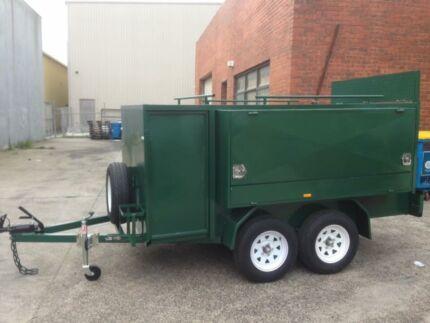 10x5 mower mowing trailer