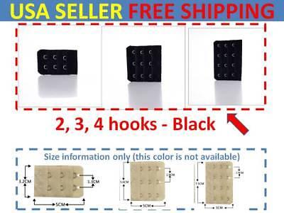3 pcs Adjustable Bra Buckle Extender Bra Extension Underwear Strap 2/3/4 Hooks
