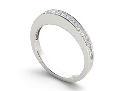 14k White Gold 5/8ct TDW. Diamond Women's Wedding Band