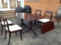 Dining Room Table and four matching chairs