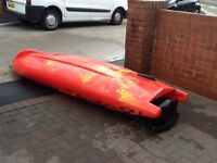 Riber make fishing,dive kayak.length 320 cms.Width 75 cms.Weight 28 Kg complete with anchor