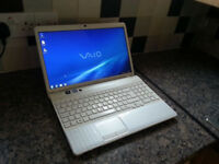 "SONY VAIO VPCEH 15.6"" LAPTOP, FAST QUAD CORE i7, 8GB, 128GB SSD, WIFI, WEBCAM, DVDR, BLUETOOTH, HDMI"