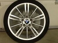 18INCH 5/120 GENUINE BMW MV3 ALLOY WHEELS WITH WIDER REARS 8.5INCH & FRONTS 8INCH WIDE WITH TYRES