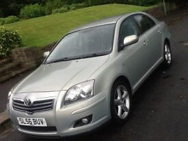 2006 TOYOTA AVENSIS 2.2 D4D T180 WITH FULL LEATHER AND SAT NAV