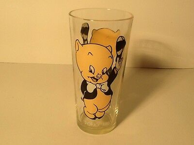 VINTAGE PORKY PIG DRINKING GLASS 1973 PEPSI COLLECTOR SERIES
