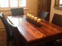 Dining table&6 leather chairs very good condition