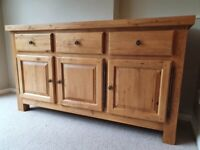 Extending dining table, 6 chairs and sideboard Park Furnishers..