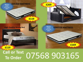 BED BRAND NEW DOUBLE TV BED MATTRESS DOUBLE KING FAST DELIVERY 92059