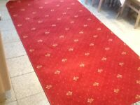 Carpet rug wool and mixed fibre(70% +30%) reddish burgandy,used 2 weeks in smoke & pet free home