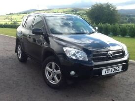 PRICE DROP: 2007 Toyota RAV4 Black Four wheel drive Diesel - 10 months MOT