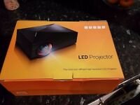TRONFY GM60 Mini LCD LED 1000LM Full HD Projector Home Cinema Multimedia 16:9 UK