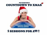 Countdown to Xmas - Personal training special offers!!