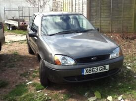 GOOD FIRST CAR FORD FIESTA FINESSE REG 2000. 12 MONTHS MOT