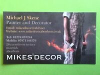 Mikesdecor. Tel: 01224697244. Time served painter and decorator over 34 years experience. Call 24/7.