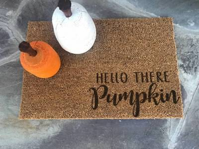 HELLO THERE PUMPKIN Door Mat Doormat Halloween Cute Fall Harvest Decor IKEA](Ikea Halloween Decorations)
