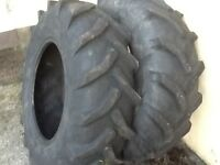 FARM TRACTOR TYRES 14.9/24 (380/85/24) MICHELIN RADIALS 30% TREAD £100 FOR BOTH TYRES