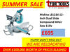 "Makita LS1216 12"" Dual Slide Mitre Saw / Table Saw & Extension table / Bosch GCM8S 216mm Mitre Saw c Lurgan Just Off M1 Junction 10, Belfast"