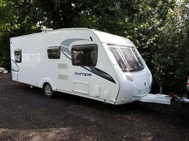 Sterling Europa 550 4 berth caravan 2011, Fixed Bed, MOTOR MOVER, BARGAIN !