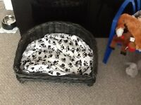 Dog basket wicker