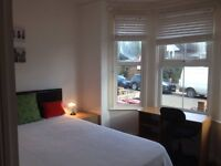 Bright double room, single occupancy, ensuite, shared house, bills included, no agent fees