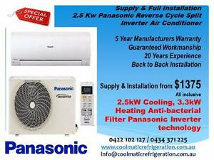 New Air Conditioner Split Unit - Panasonic + Full Installation Melbourne CBD Melbourne City Preview