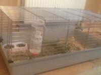 Large rabbit cage 100 cms grey