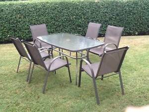outdoor table and six chairs Bonogin Gold Coast South Preview