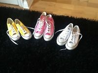 3pairs converse shoes for sale