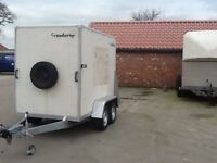 Brenderup box trailer twin axle 8x5x6 fully braked.