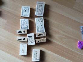 Crafting rubber stamps.11 in total