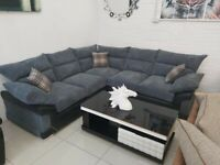 **REDUCE PRICE ON LOGAN LARGE CORNER SOFA ON SALE**IN GREY CORD AVAILABLE IN 3+2 AS WELL ORDER NOW