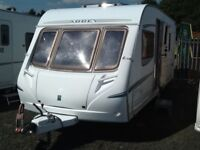 2005 abbey vogue GTS 415 fixed bed with awning