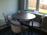 Plastic ikea kitchen table and chairs