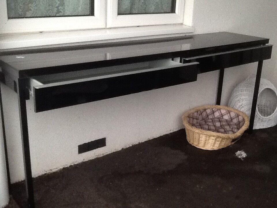 Black Gloss Ikea Best Burs Desk Sstc