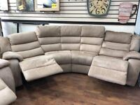 corner sofa + chair with 3 electric recliner