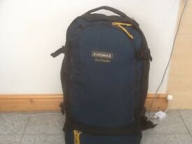 Great quality EUROHIKE Euro Traveller 60 litre capacity rucksack-used for 2day trip-handles on sides