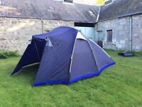 Large used tent with ground sheet for sale, easy to pitch