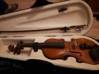 1/8 violin with hard case