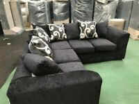 BARCELONA CHENILLE CORNER SOFAS & 3+2 SOFA SETS WITH MATCHING FOOTSTOOLS