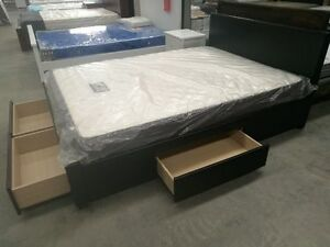 Brand New PU Leather Bed Frame Four Drawers D/Q Size Springvale Greater Dandenong Preview
