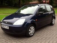2003 FORD FIESTA 1.4 LX **5 DOOR ** HATCH,AIR CON,ELECTRIC WINDOWS,REMOTE LOCKING,76000 MILES,