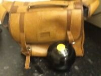 FOR SALE VITALITE SET OF BOWLS SIZE 6 AND LEATHER BAG WITH TAPE