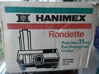 hanimex rondette projector and slides