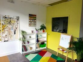 Art Studio/ creative work space space to rent . Private or shared.