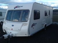 2007 Bailey pageant champagne 4 berth end changing room with fitted mover