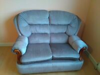 2 Seater sofa with 2 chairs