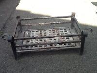 Black Cast Iron Fire Grate
