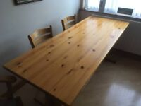 Solid Pine Refectory Dining Table - ONO